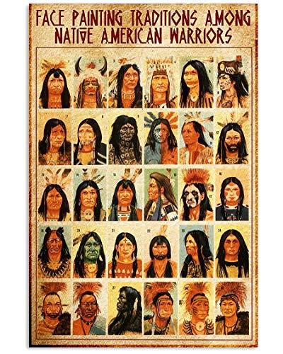 AZSTEEL Pintura de la cara Nativo-Americana Pt Lqt-nna