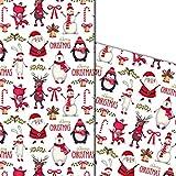 ArtUp.de 5 Bögen Weihnachtspapier Geschenkpapier |...