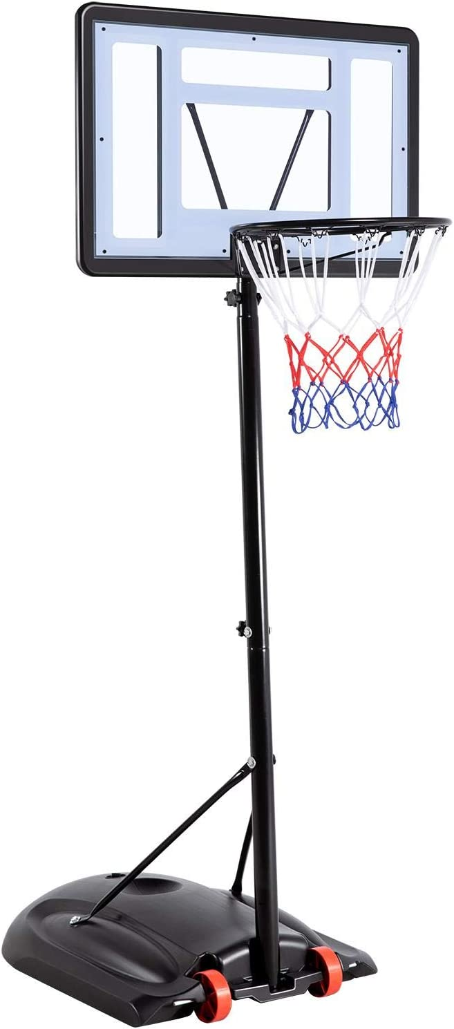 YAHEETECH 7.2-9.2FT 送料無料激安祭 当店限定販売 Height-Adjustable Basketball for Hoop System