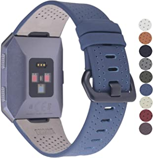 JSGJMY Compatible with Fitbit Ionic Bands Men Women Large Size Replacement Strap Compatible with Fitbit Ionic Watch (Navy Blue)
