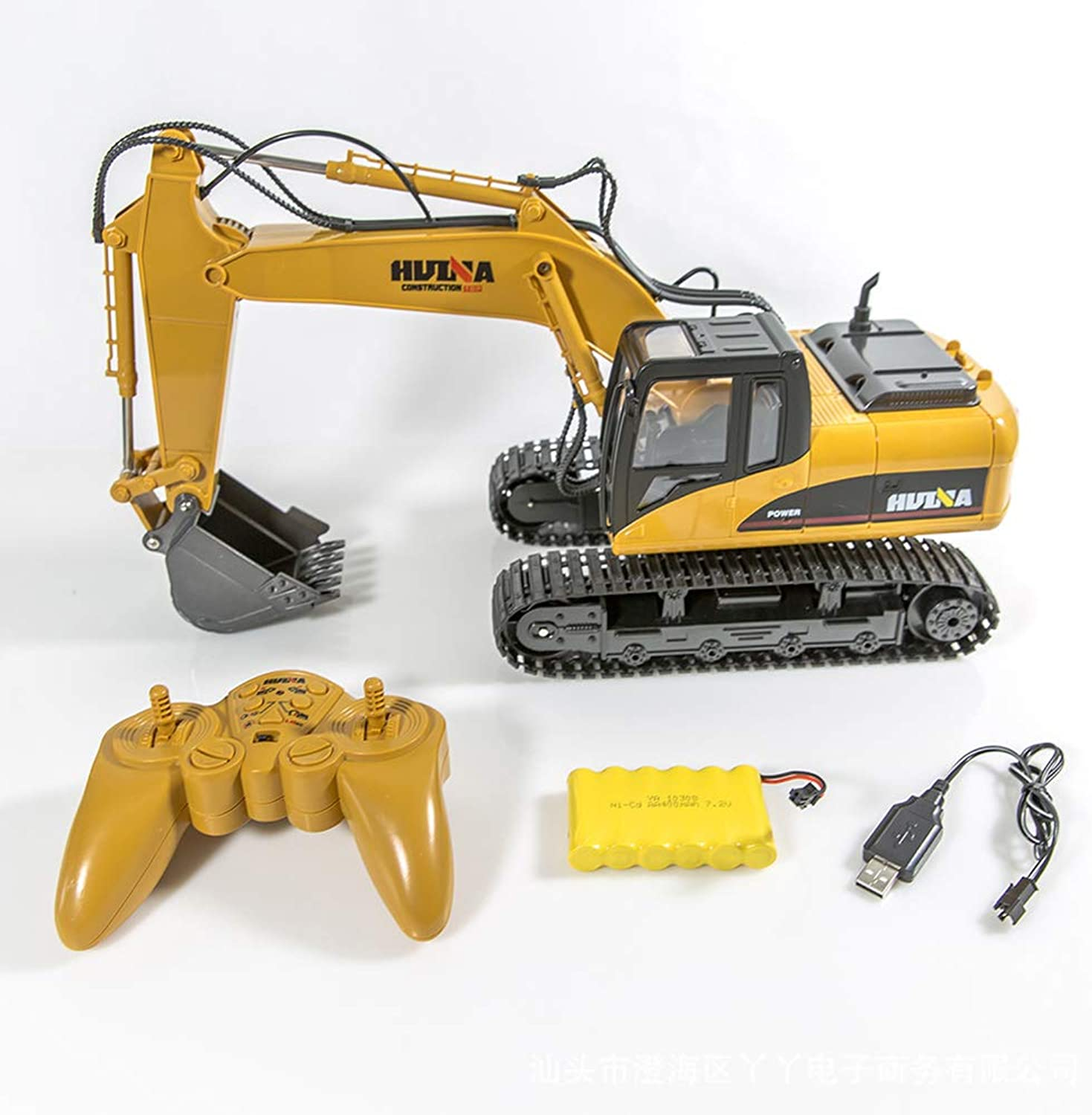 SLONG Remote Control Toy Excavator 15 Channel 2.4G Construction Vehicle Excavator Electronic Hobby Sound and Lighting