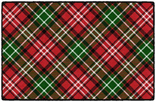 Brumlow MILLS Christmas Plaid Washable Festive Print Indoor or Outdoor Holiday Rug for Living or Dining Room, Bedroom and Kitchen Area, 30x46, Multicolor