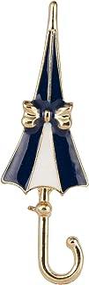 A N KINGPiiN Broche de solapa de paraguas azul y blanco para hombres y mujeres