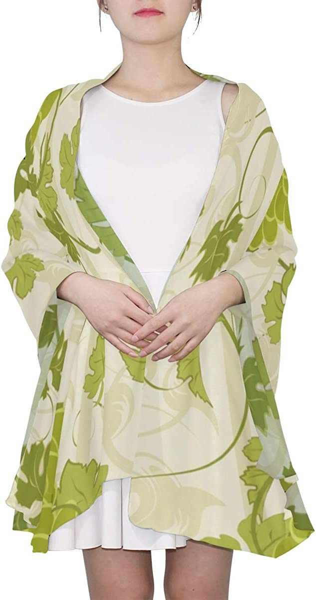 Beautiful Bunches Of Grapes Unique Fashion Scarf For Women Lightweight Fashion Fall Winter Print Scarves Shawl Wraps Gifts For Early Spring
