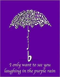 Inspired by a Prince Song- Purple Rain- 11x14 Unframed Wall Art Print - Gift for Music Lovers or Train Lovers - Great in Dorm, Bedroom. Funk, R&B, Soul, Pop, New Wave, Rock. Poster Decor Under $20