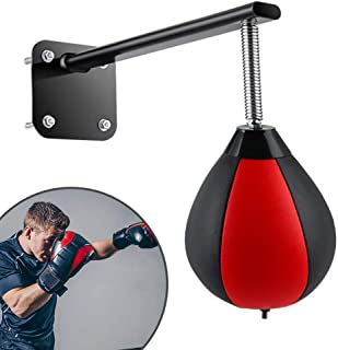 ETE ETMATE Boxing Ball Wall-Mounted Pressure Relief Ball with Reinforced Spring Speed Ball for Home Office Gym