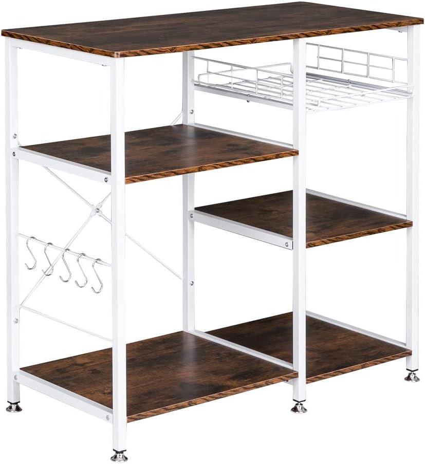 3-Tier Industrial Kitchen Fashion Baker's Rack Mic Storage Utility Save money Shelf