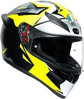 AGV K1 Mir-18 Adult Street Motorcycle Helmet - Yellow/Black/X-Large