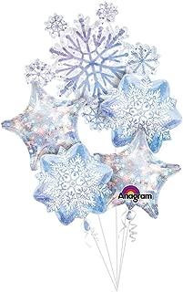 Glistening Snowflakes  Balloon Bouquet
