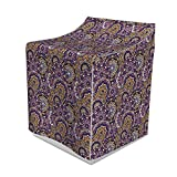 Ambesonne Flower Washer Cover, Retrospective Mandala Floral Patterns Orientalism Illustration, Dust and Dirt Free Decorative Print, 29' x 28' x 40', Purple Sand Brown and White