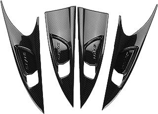 Cuque 4Pcs Carbon Fiber Style Premium ABS Material Interior Door Handle Bowl Cover Trim Fit for Honda Civic 2016 2017
