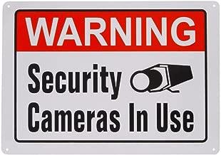 1Pcs Aluminum Metal Sign Warning Video Surveillance Security Cameras In Use