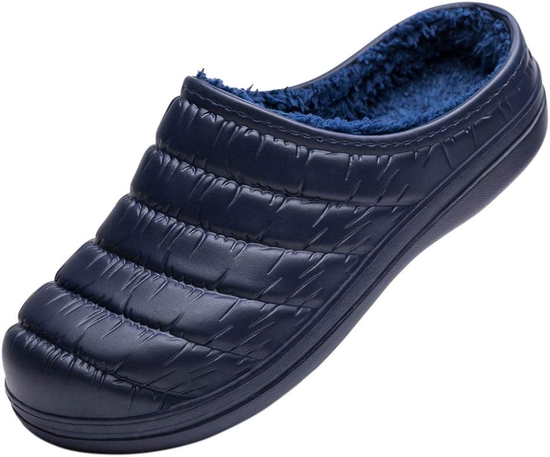 Miqieer Men's Women's Waterproof Memory Foam Slippers Slip-on Clog Scuff House shoes Indoor & Outdoor