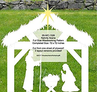 6ft tall 6ft wide Nativity Scene Yard Art Woodworking Pattern Make From One Sheet of Plywood