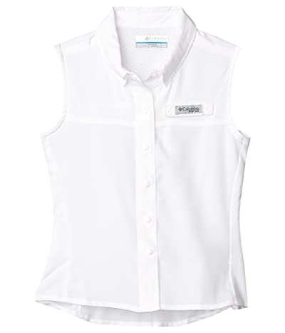 Columbia Kids Tamiamitm Sleeveless Shirt (Little Kids/Big Kids) (White) Girl