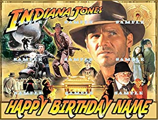 INDIANA JONES: Personalized edible Birthday Cake topper premium frosting sheets