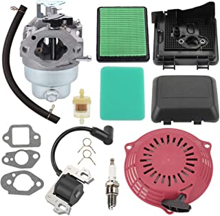 Trustsheer GCV160 Carburetor for Honda GCV160A GCV160LA Engine HRB216 HRR216 HRS216 HRT216 HRZ216 Lawn Mower 16100-Z0L-853 16100-Z0L-023 w Tune Up Kit Air Filter Ignition Coil
