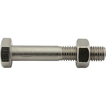 Edelstahl A2 V2A rostfrei Gewindeschrauben Maschinenschrauben mit Teilgewinde M14 x 80 mm Sechskantschrauben mit Schaft - DIN 931 Eisenwaren2000 5 St/ück ISO 4014