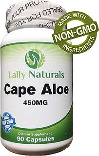 Cape Aloe 450 mg – Detox - Cape Ferox Capsules – Natural Laxative – Non-GMO – African Cape Aloe Pills - Natural Relief from Constipation – Aloe Ferox Whole Leaf Capsules (90 Capsules)