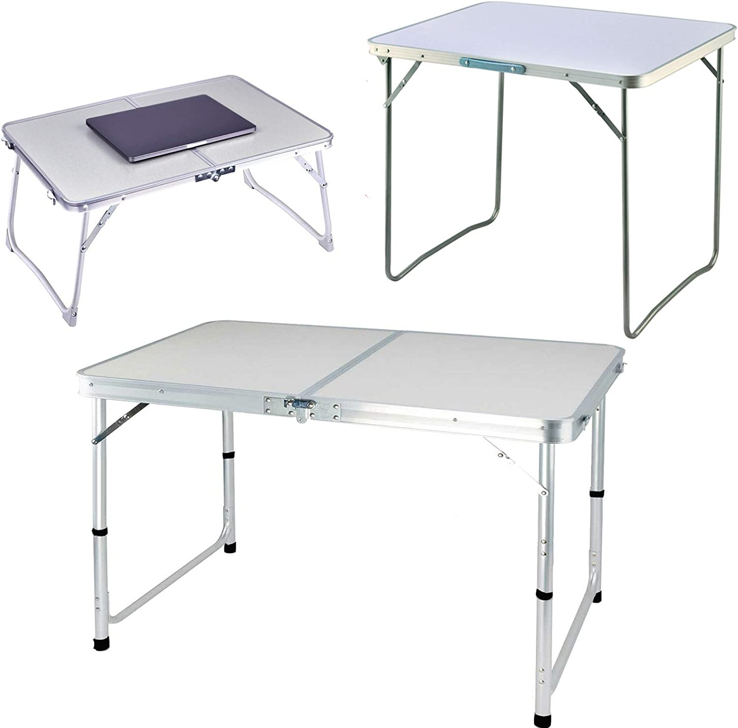 A surprise price is In a popularity realized Portable Fold-in-Half Aluminum Picnic Camping Table Party Dining