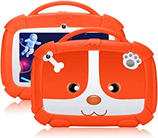 KUNWFNIX Kids Tablet 7 inch,GMS-Certified Android 9.0 and Kids-Mode Dual System,Quad Core,1GB RAM,16GB ROM,Dual Camera,Ful...