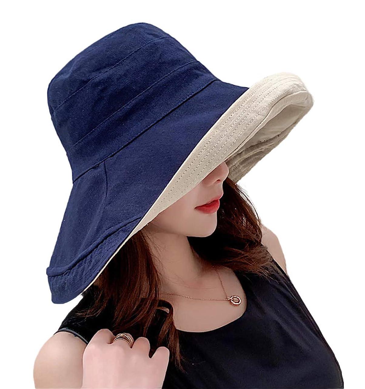 用語集させるクラッチLimakara帽子 レディース uvカット 大きい つば広 コットン 両面使え 折りたたみ 人気 夏 紫外線対策 ハット 取り外しあご紐付き おしゃれ 小顔効果 可愛い 日よけ 吸汗通気 女優帽 母の日 プレゼント