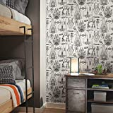 RoomMates RMK11036WP Star Wars Blueprint Peel and Stick Wallpaper , Black , 20.5' x 16.5 feet