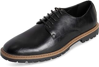 Hombre Queesnbury LEndEn Derby Oficina Trabajo Inteligente Formal Suela De Goma Durable Llanura Ata para Arriba Zapatos