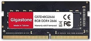Gigastone ノートPC用メモリDDR4-2666MHz 8GB×1枚 PC4-21300 CL19 1.2V SODIMM 260 Pin Unbuffered Non-ECC Memory Module Ram Upgrade 永久保証
