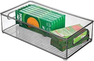 mDesign boite stockage à poignées intégrées – boite rangement pour la cuisine, la salle de bain ou la papeterie – boite pl...
