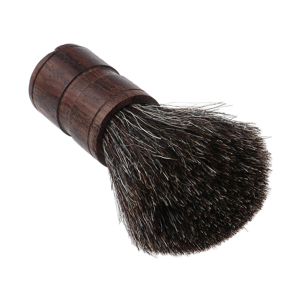ローブ無駄な申請中CUTICATE 男性の父のギフトの理髪師用具のための優れた木製のドルの剃るひげのブラシ