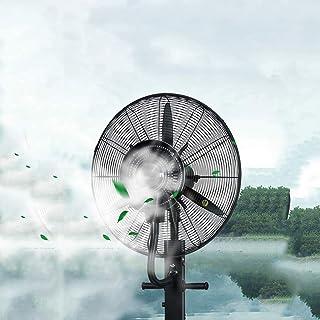 XFPINK Chasis de Pedestal Negro 3 configuraciones de Velocidad Aire Acondicionado Spray atomizador Ventilador Niebla Industrial Cabezal sacudidor Fábrica/Almacén/Taller 71/81 cm
