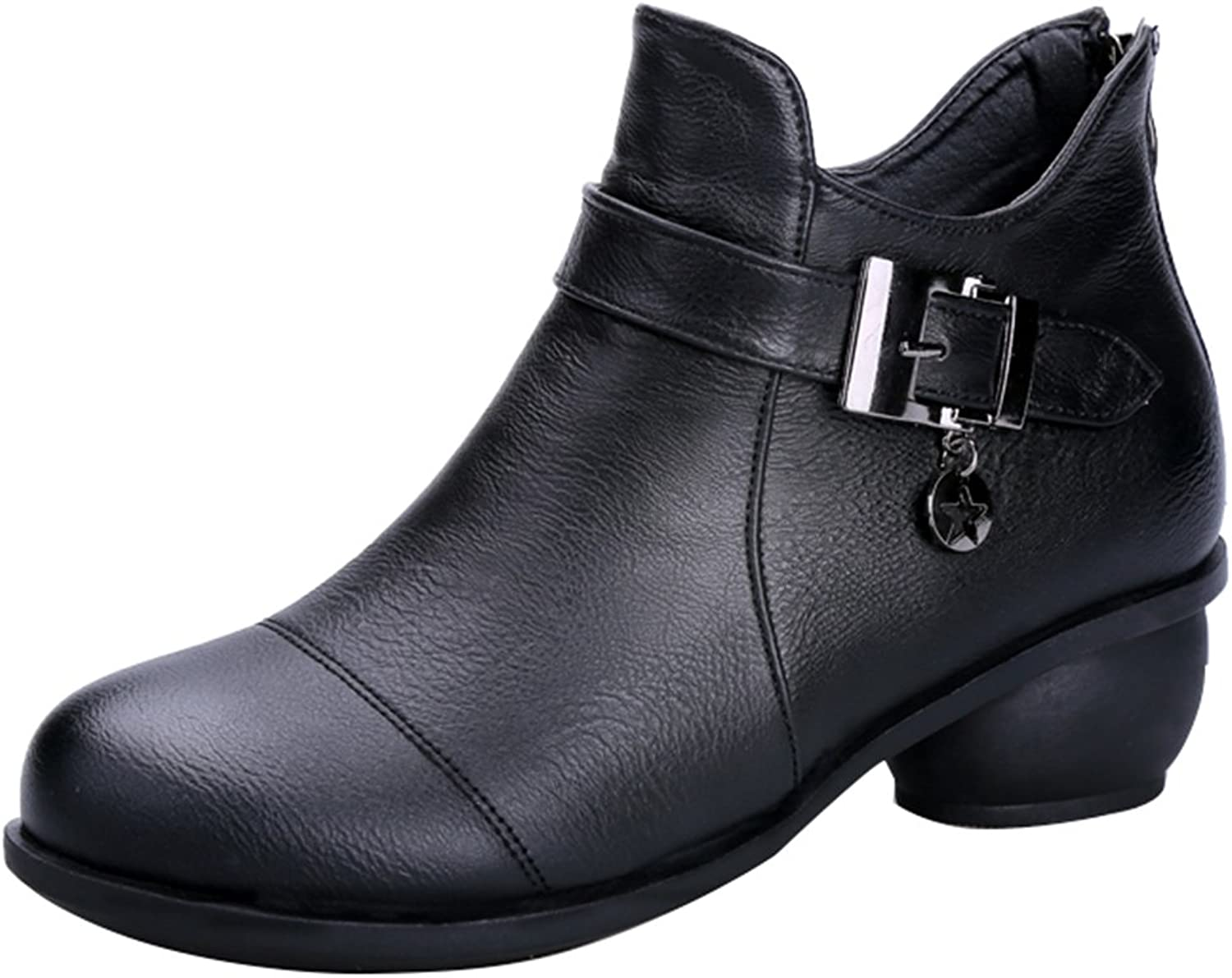 Abby 6827 Womens Ballroom Casual Rumba Closed Toe Flat Cozy Mid Top Boots Square Modern Dance shoes