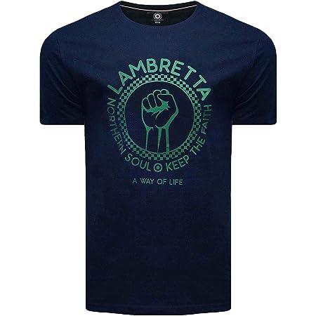Lambretta Mens Northern Soul 'Keep The Faith' Classic Retro Ska Casual T-Shirt