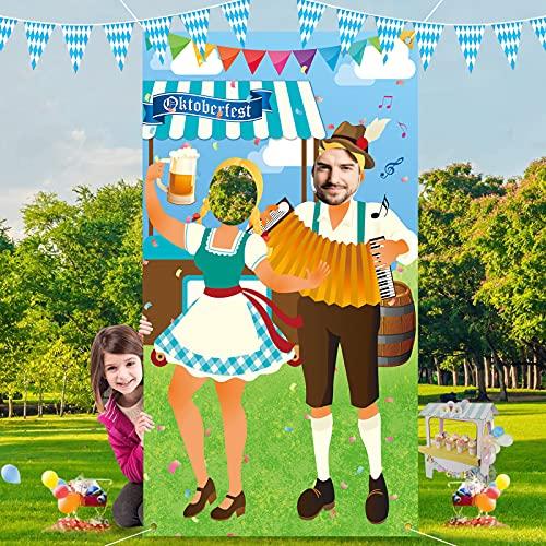 Oktoberfest Party Dekorationen,180*90cm Oktoberfest Foto Stütze,Oktoberfest Foto Requisit,Lustige Oktoberfest Spiele Zubehör,Oktoberfest Deko,Oktoberfest Bayerisches Partyset Dekorationen