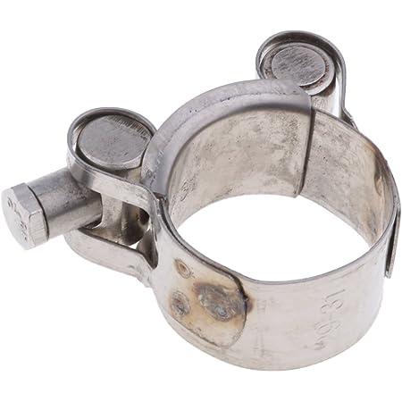 Baoblaze 1 Stück Abgasrohrschelle Edelstahl Gelenkbolzenschelle Auspuff Schelle Auspuffschelle Rohrschelle Für 29 31mm Motorrad Auto