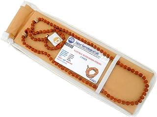Jaipuri Shop Original Rudraksha Mala Certified For All Rashis In 5 Mukhi Rudraksh 5 Mm 108 Beads For Unisex