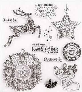 bestoyard sellos de silicona Set Corona Reno Estrella–Marca DIY Artesanía transparentes de costura Scrapbooking Decorar