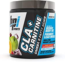 BPI Health CLA + Carnitine - Supports Metabolism - Helps Boost Performance - Non-Stimulant Formula Fruit Punch - 50 Servings