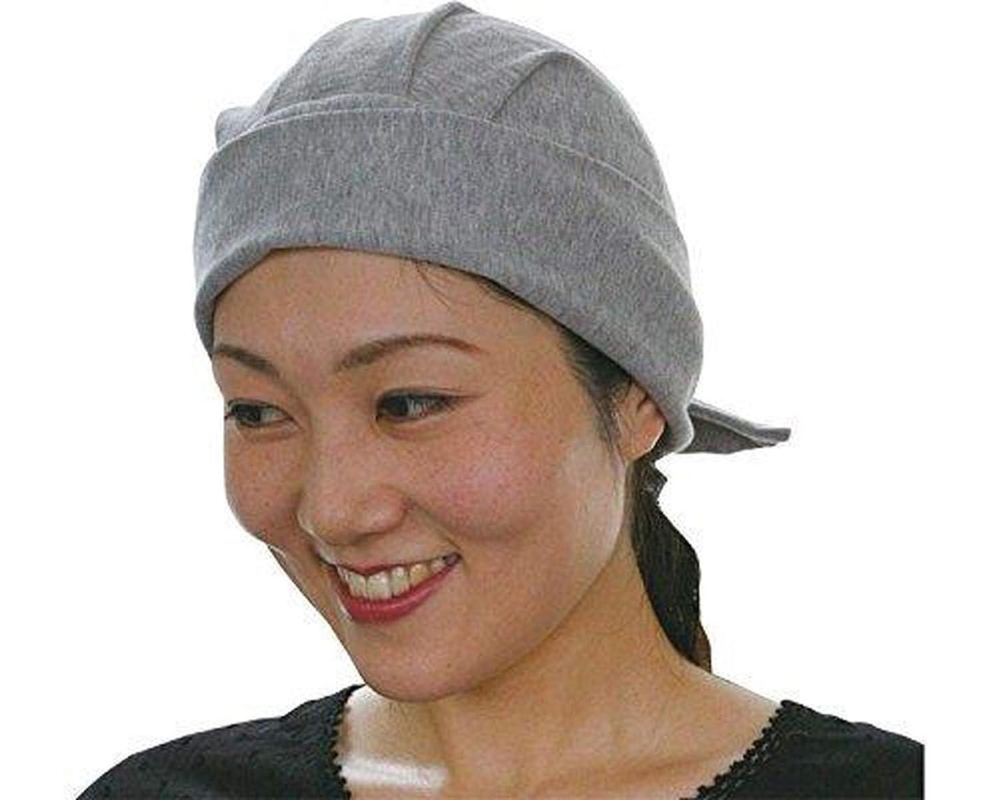 akko「バンダナ帽」かるふわ (男女兼用) グレイ