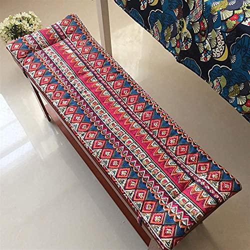 YDuro Cuscino Interni sedili per sedili da Esterno materassino reclinabile Divano Tatami Traspirante Sedia a Dondolo Cuscino Cuscino Cuscino Cuscino (Colore: Rosso, Dimensioni: 30x120cm (12x47inch))