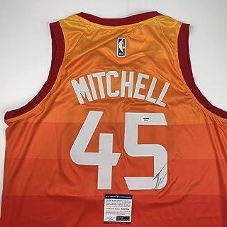 cba0a2af3243 Autographed Signed Donovan Mitchell Utah Orange Basketball Jersey PSA DNA  COA