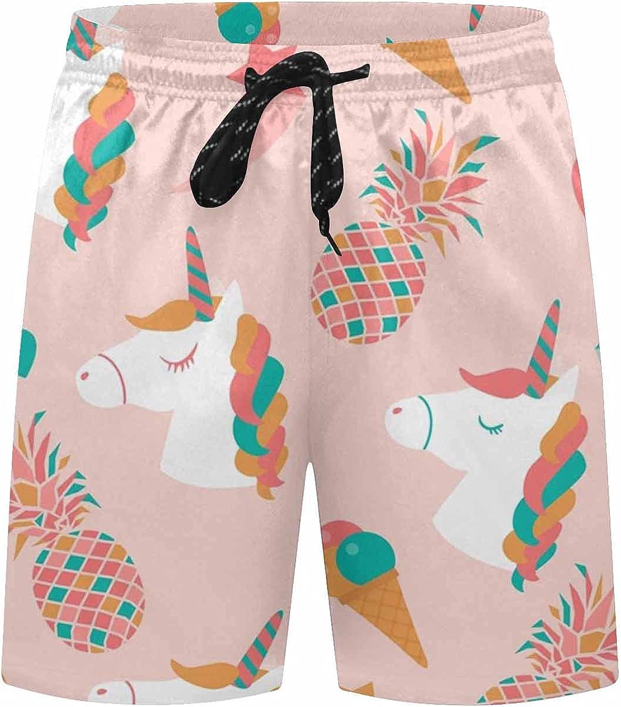 InterestPrint Tropical, Jungle Bird Boardshort Swim Trunks for Men Beach Quick Dry Swimming Shorts