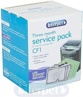 Interpet 3 Month Service Pack for the Interpet Internal Cartridge Filter CF1 (3 x Filter Cartridge, 3 x Algaway Pad)