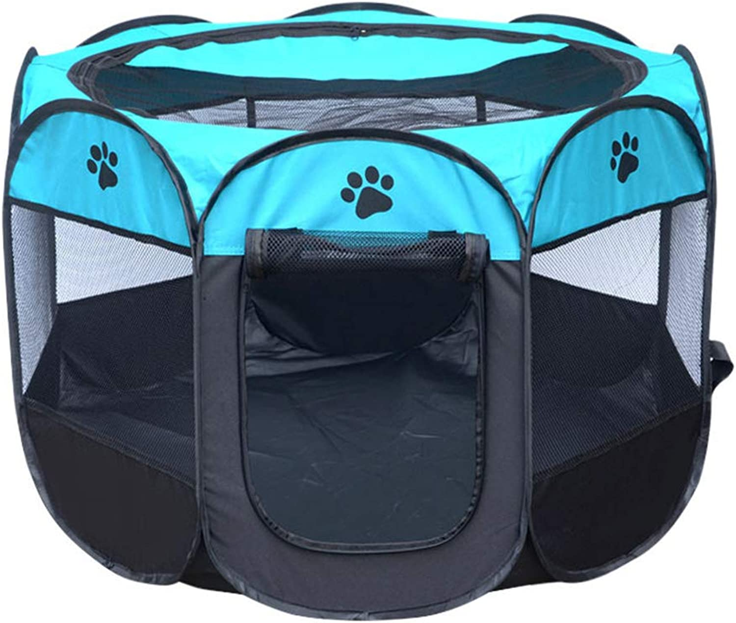 8 Panel Pet Portable Cloth Fence Travel Kennel Tent Washable Fold Oxford Cloth Waterproof Resistant To Catch Dog Tent