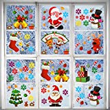Outus 70 Pieces Christmas Window Clings Stickers Static Clings Window Stickers Xmas Decal Stickers Winter Holiday Party Decoration Supplies, 20 Sheets