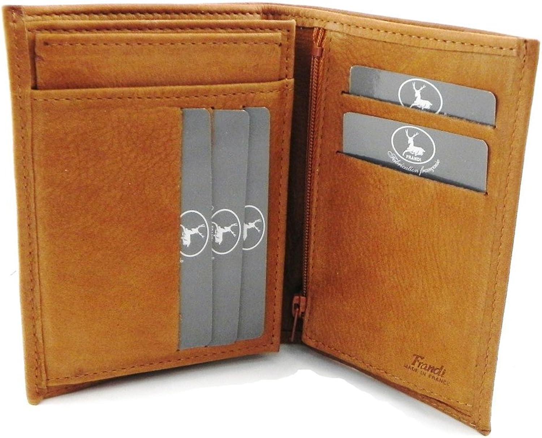 Wallet leather 'Frandi' honey nubuck (european).