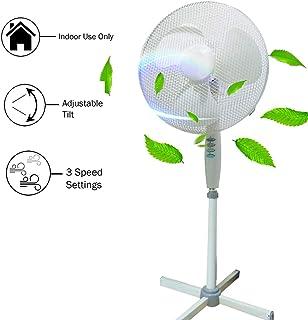 Zeerkeer Ventilador de pie oscilante,Ventilador de Suelo 50W Orientación y 3 Niveles de Altura Regulable Sistema de Ahorro de Energía Oficina, Hogar