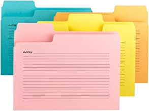 Smead SuperTab Notes Folder, Oversized 1/3-Cut Tabs, Letter Size, Assorted Colors, 12 per Pack (11650)