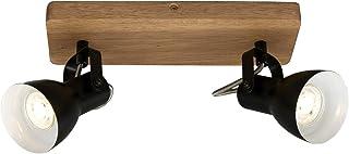 Briloner Leuchten - Spot, spot de plafond rétro, spot de plafond vintage, spots orientables et pivotants, 2x GU10, max. 35...